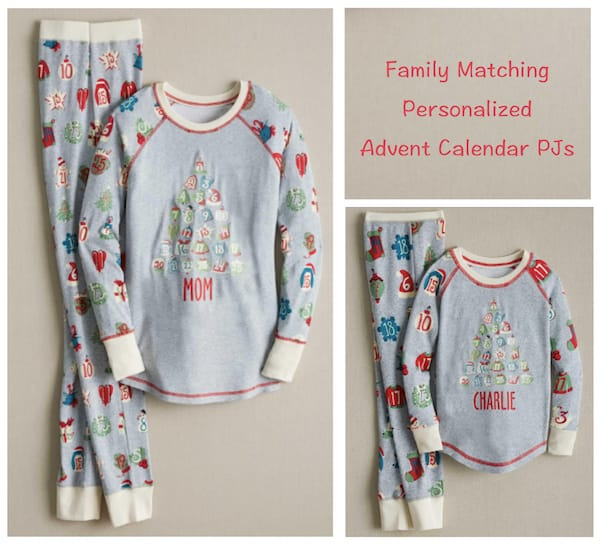 Family Matching Advent Calendar Christmas Pajamas
