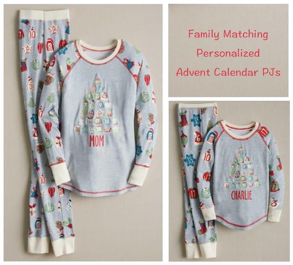 Family Matching Advent Calendar Christmas Pajamas