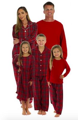 Family Matching Plaid Thermal Pajamas