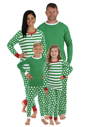 Green Dot Family Matching Pajama Set