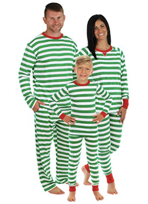 Green Stripe Family Matching Pajama Set