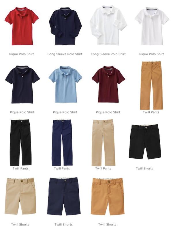 Gymboree Boys School Uniforms