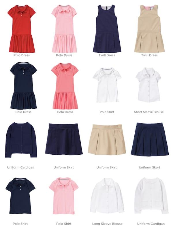 Gymboree Girls School Uniforms