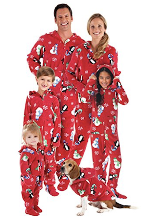 Hoodie-Footie Winter Whimsy Matching Family Pajama Set