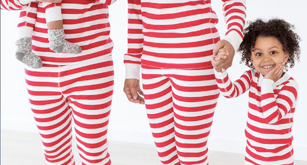 Matching Family Red and White Striped Christmas Pajamas