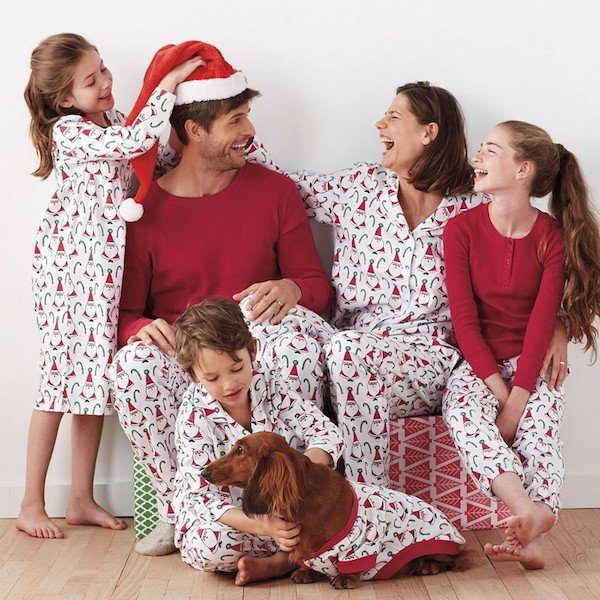 Matching Family Santa Pajamas