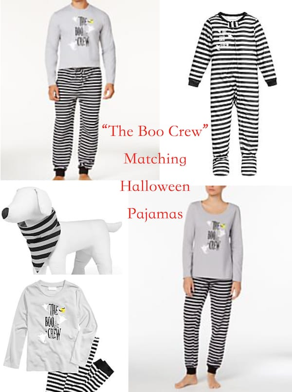 Matching Family Halloween The Boo Crew Pajamas