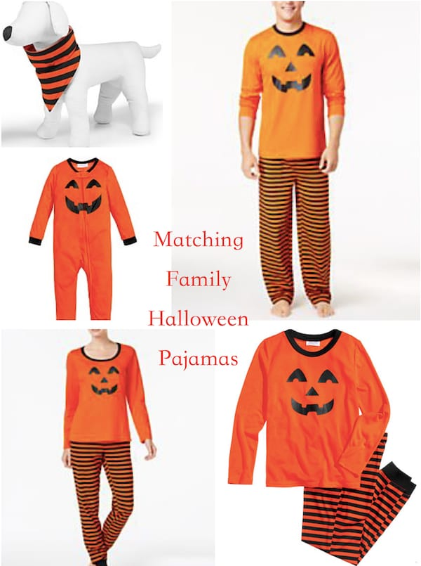 Matching Family Halloween Smiley Pumpkin Face Pajamas
