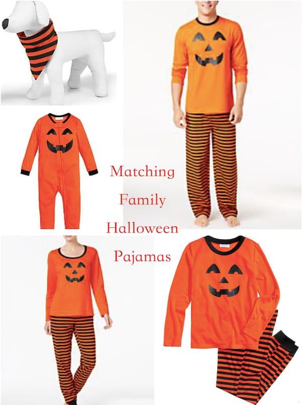 Matching Family Halloween Smiley Pumpkin Face Pajamas