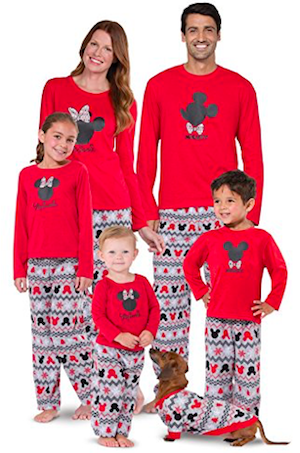Mickey Mouse and Minnie Mouse Matching Family Pajamas