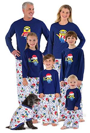 Minion Holiday Matching Family Pajamas