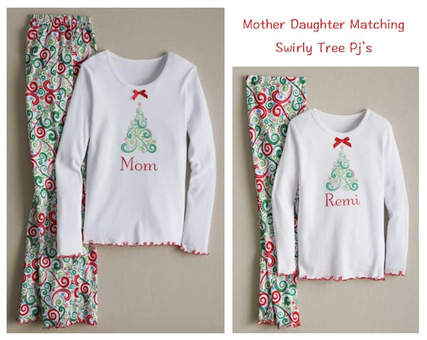 Mother Daughter Matching Swirly Tree Pjs