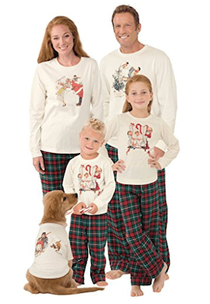 Norman Rockwell Christmas Matching Family Pajamas Family Matching Plaid  Thermal Pajamas f1b771e10