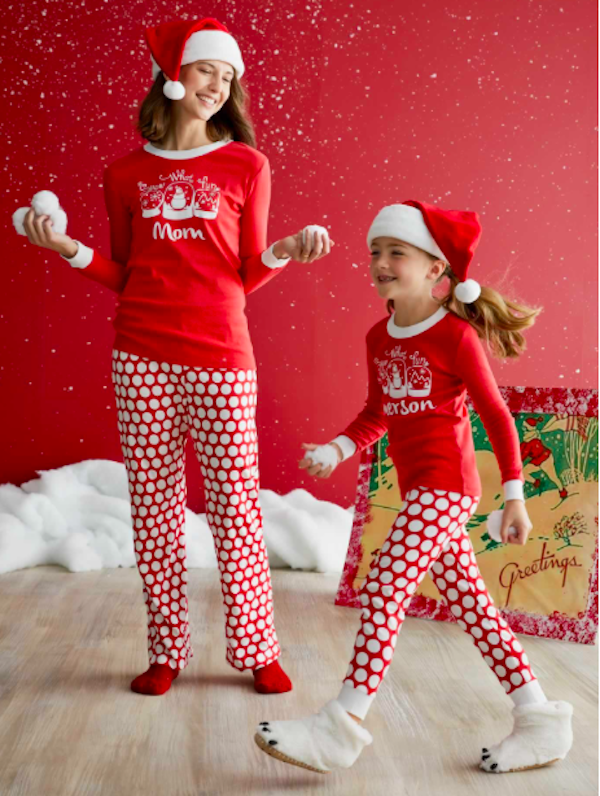 Personalized Snow What Fun Mataching Family Holiday Pjs