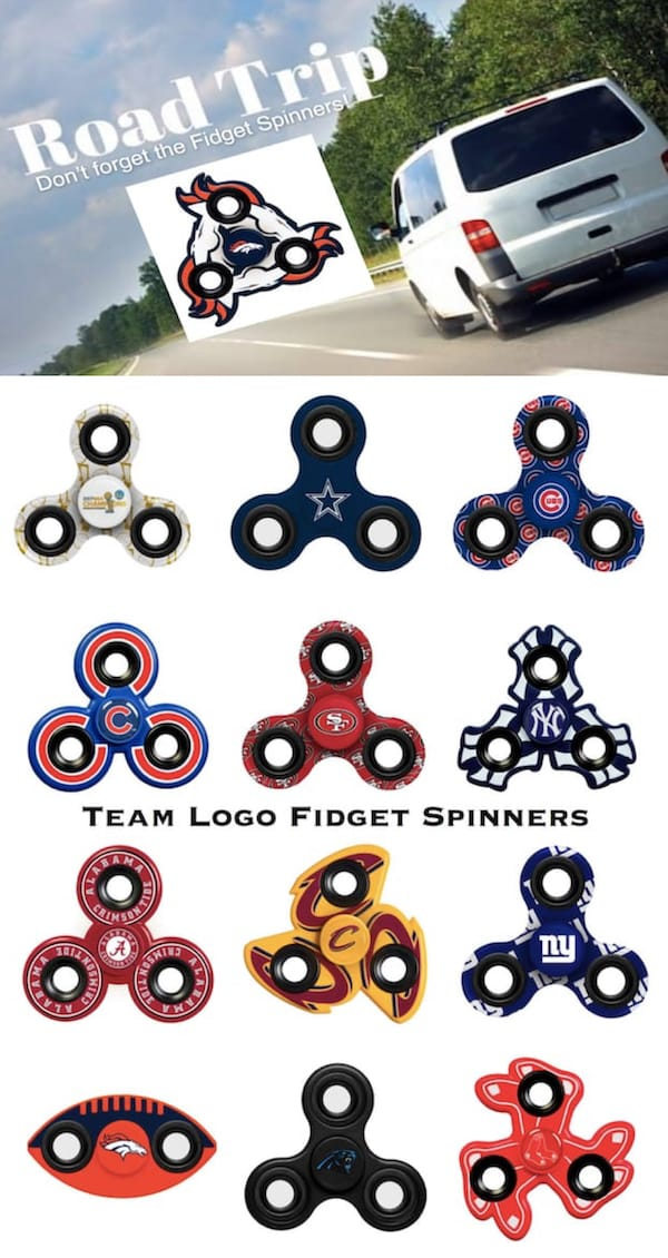 Raod Trip Don't Forget the Fidget Spinners