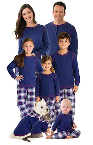 Snowfall Plaid Matching Family Pajama Set