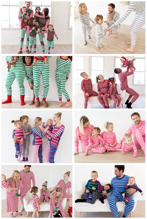 Hanna Andersson Stripes Family Matching Holiday Pajamas