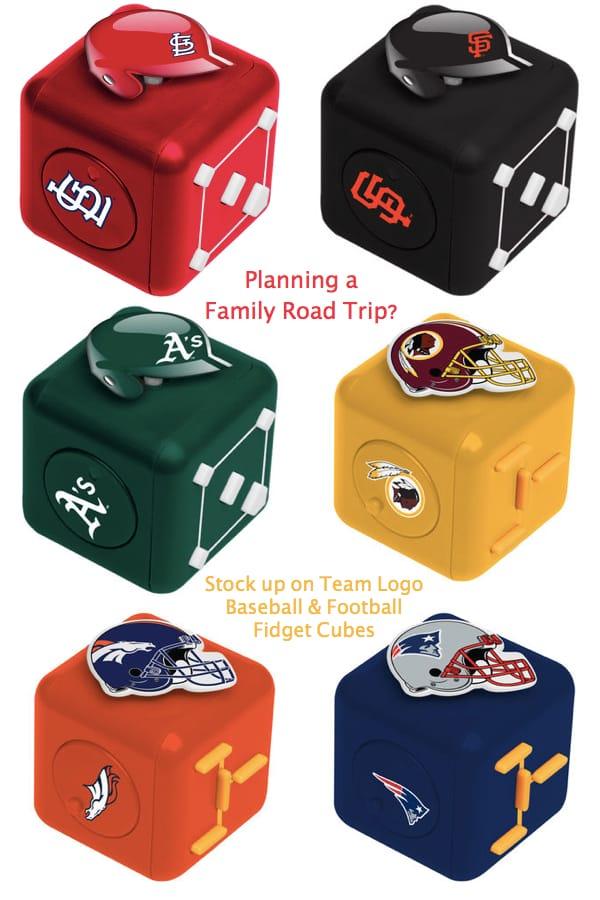 Team Logo Baseball and Football Fidget Cubes