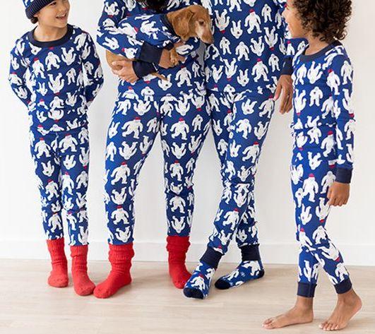 Hanna Andersson Yeti Family Matching Holiday Pajamas