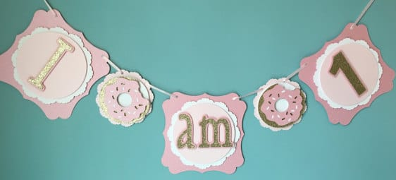 Donut I AM One First Birthday Banner