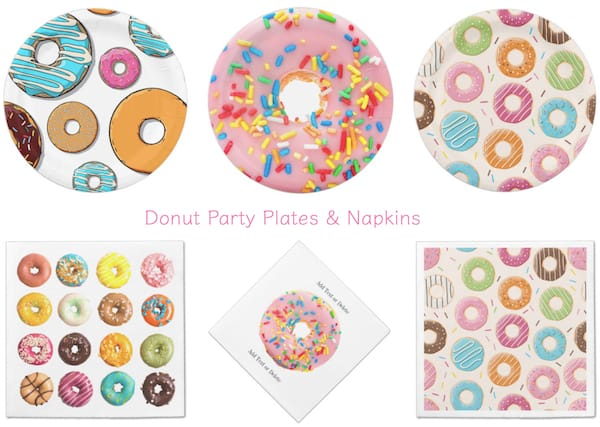 Donut Party Plates and Napkins