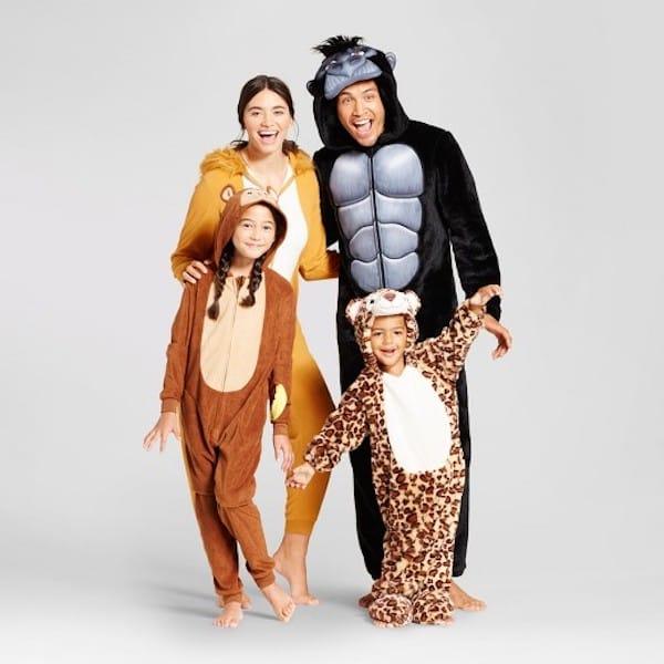 Jungle Animal Family Pajamas Halloween Collection