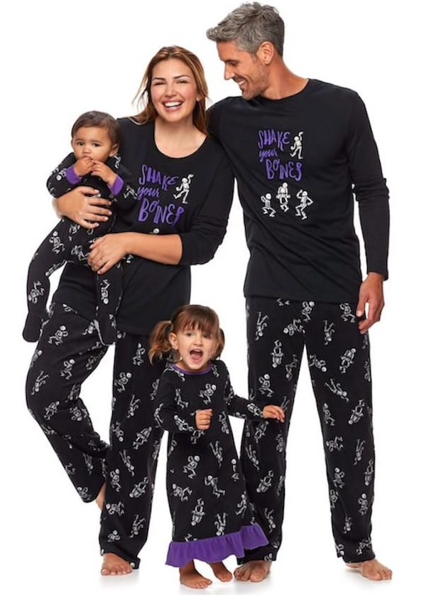 Halloween Matching Family Skeleton Pajamas