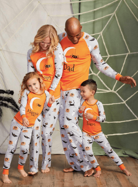 Family Matching Halloween Sketchy Spider PJs