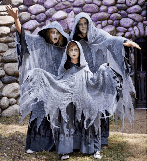Family Matching Scary Ghost Halloween Costumes