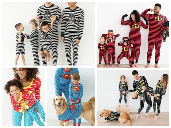 Family Matching Superhero Pajamas Halloween Costumes