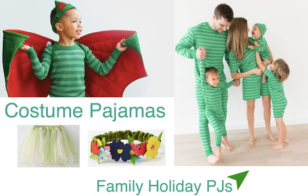 Kids Costume Pajamas Re-purposed as Family Matching Holiday Pajamas