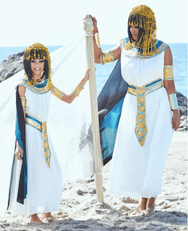Mother Daughter Matching Cleopatra Halloween Costumes