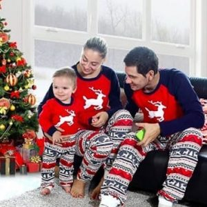 Baywell Elk Christmas Matching Family Pajamas