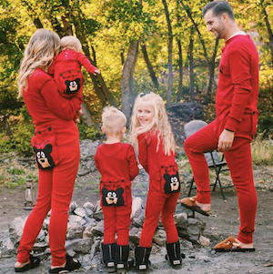 Family Matching Bear Bum Flapjack Holiday Pajamas