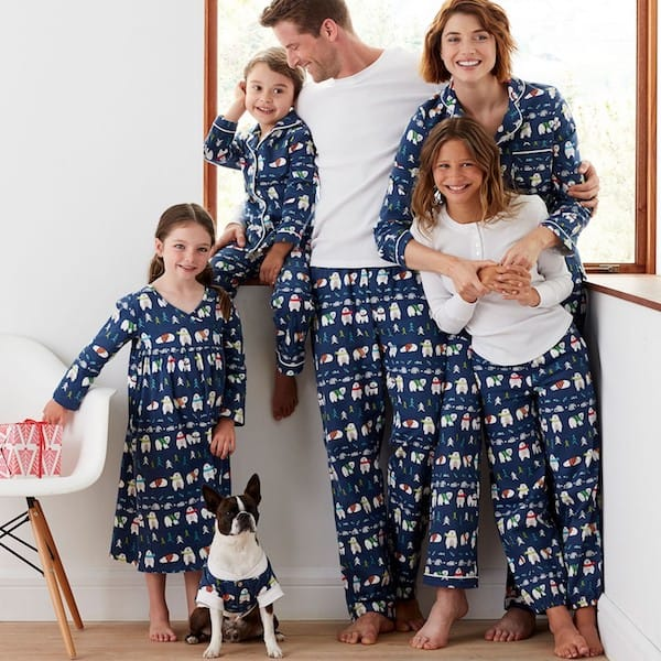 Family Matching Polar Bear Pajamas