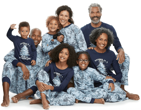Family Matching Holiday Camouflage Pajamas
