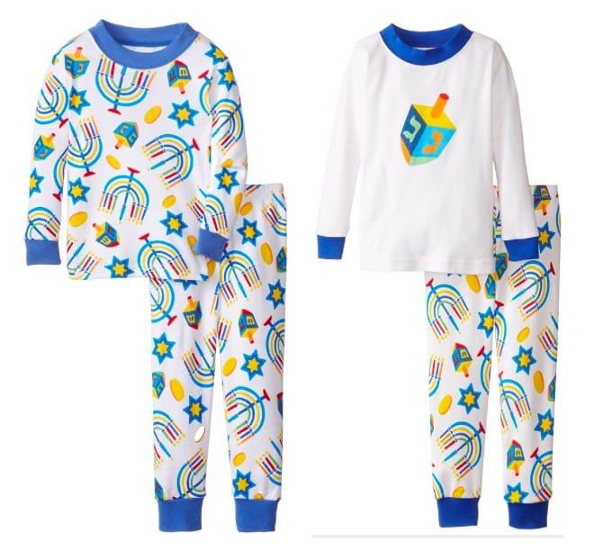Chanukah Sleepwear Manorah Dreidel Pajamas