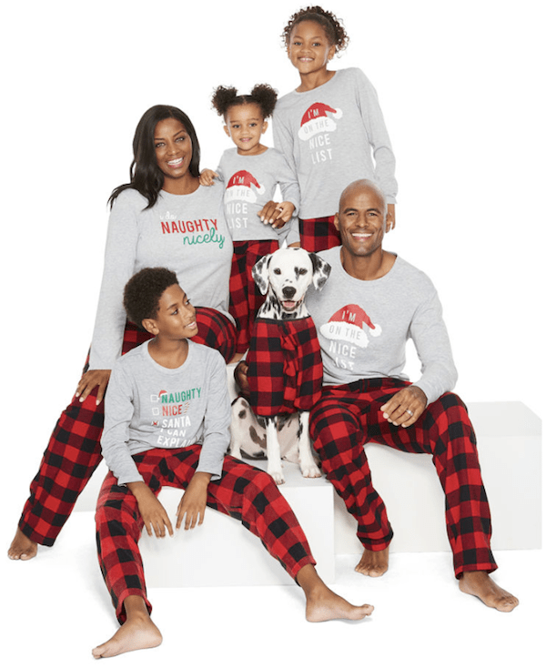 Checking It Twice Flannel Matching Family Santa Christmas Pajamas
