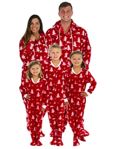 Cranberry Red Deer Family Matching Holiday Pajamas