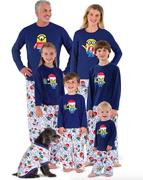 Despicable Me Christmas Matching Family Pajamas