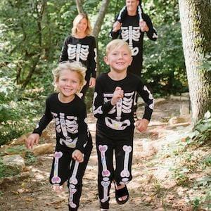 Dia de los Muertos Halloween Matching Family Pajamas