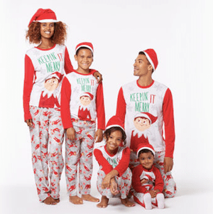 gnome elf and santa christmas pajamas family pjs. Black Bedroom Furniture Sets. Home Design Ideas