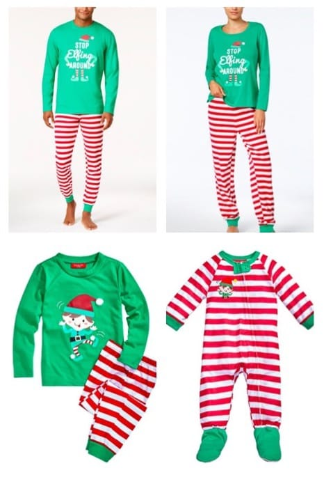 Elf Around Family Holiday Matching Pajamas