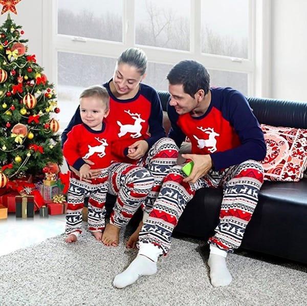 Elk Christmas Matching Family Pajamas