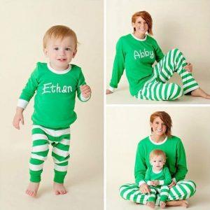 Etsy Personalized Christmas Pajamas Family Holiday Matching
