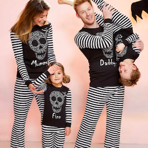 Family Matching Bat Skull Halloween Pajamas