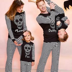 Family Matching Bat Skull Halloween Pajamas