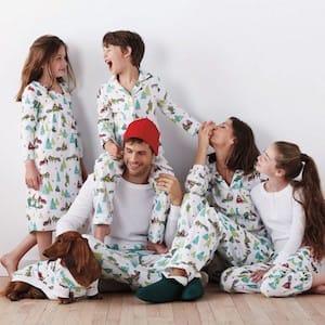 Family Matching Flannel Holiday Raccoon Woodland Animal Pajamas