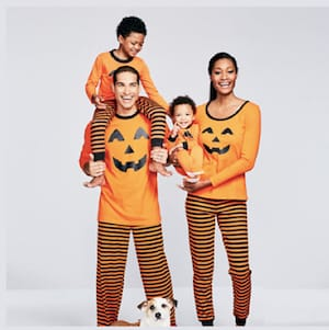 Family Matching Halloween Pumpkin Pajamas