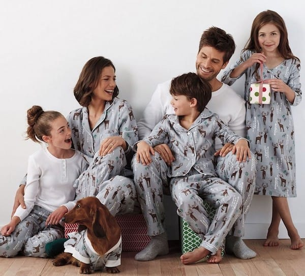 Family Matching Holiday Flannel Deer Pajamas